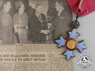 A Most Excellent Order of the British Empire to the British War Relief Society