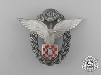 A Mint Condition Second War Croatian Pilot's Badge; Type II