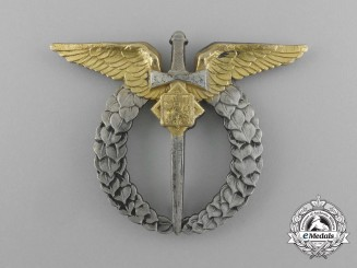 A 1930's Czechoslovakian Silver Air Force Pilot's Badge