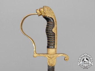 "A German Army Officer's ""Lion's Head"" Sword by WKC"
