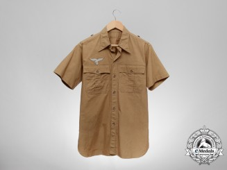 A Mint Luftwaffe Short-Sleeved Tropical Shirt