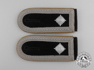 A Pair of Waffen-SS Cavalry Branch Staff Sergeant Rank Shoulder Boards
