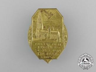 "A 1934 Freiburg ""Loyalty to the Führer"" Badge"