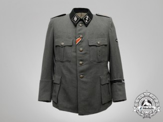 A Field Grey Waffen-SS Sturmführer Medical Officer's Tunic