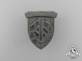 A 1939 SA/HJ Aflenz Winter Championships Badge by Ulbricht of Vienna