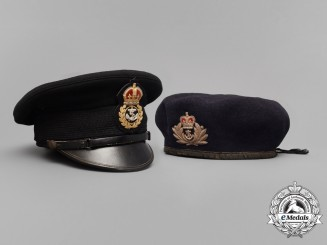 A Canadian Chief Petty Officer's Visor Cap and Officer's Beret