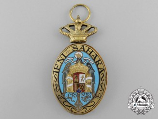Spain. A Campaign Medal for the Ifni and the Sahara; 1st Class for Officers