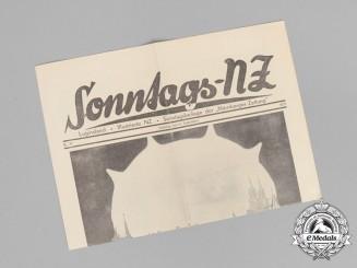 "A 1937 Sunday Insert of the ""Nürnberger Zeitung"" Newspaper"
