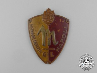 An Italian GIL Fascist Youth Naples (Napoli) Sleeve Badge