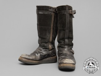 A Pair of Luftwaffe Fur Lined Flight Boots