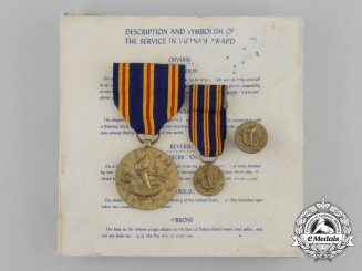 United States. A Civilian Vietnam Service Medal with Miniature & Lapel Pin