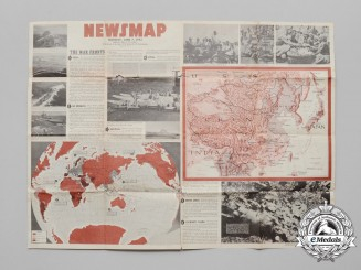 A 1943 Newsmap Issued by the U.S. War Department