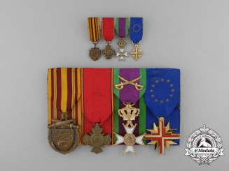 A Second War Belgian Dunkirk Combatants Medal Bar
