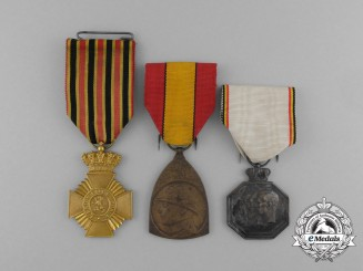 Three First War Period Belgian Medals and Awards