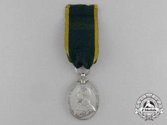A Territorial Efficiency Medal to Bombardier Edward C. Earley; RA