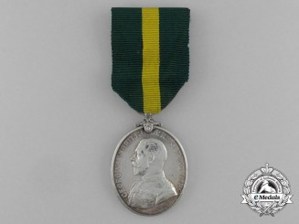 A Territorial Force Efficiency Medal to the 16th Battalion; Devonshire Regiment