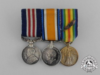A First War Military Medal MID Miniature Group