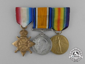 A First War Medal Group to the King's Shropshire Light Infantry