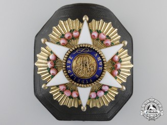 A Brazilian Order of the Rose; Dignitary Breast Star with Case by Rothe