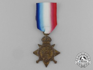A 1914 Star to Gunner Ernest Godfrey Law; Royal Field Artillery