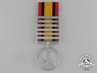 A Queen's South Africa Medal to Private J. Foran; Royal Dublin Fusiliers