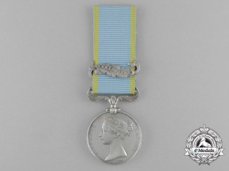 A Crimea Medal to Able Seaman Rd Smith; H.M.S. St. Jean d'Acre