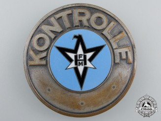 A Henschel & Son Factory Kontrolle Badge
