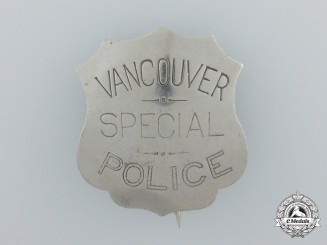 A Scarce Vancouver Special Police Badge