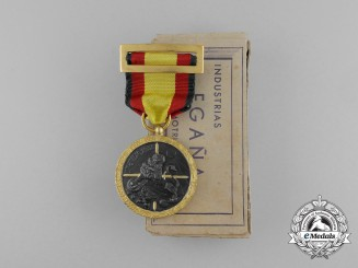 A Mint Boxed 1936 Spanish Civil War Campaign Medal by Industrias Egana