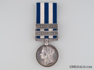 An Egypt Medal to the South Staffordshire Regiment