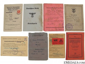 Eight German Third Reich Documents