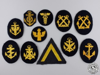Eleven Second War Kriegsmarine Patches