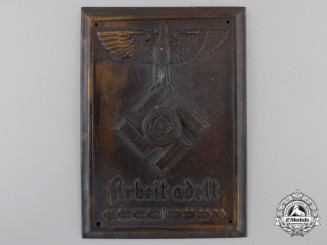 An RAD Reich Labor Service Plaque