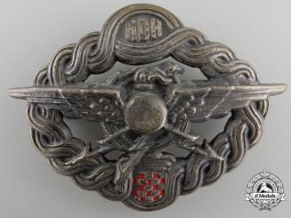 Croatia, Independent State. AnAir Gunner & Radio Operator Badge, by Braca Knaus, c.1940