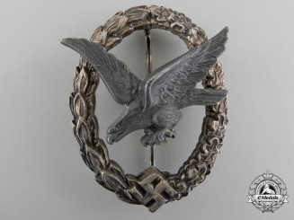 A Luftwaffe Air Gunner Badge (without Lightning) by W. Deumer