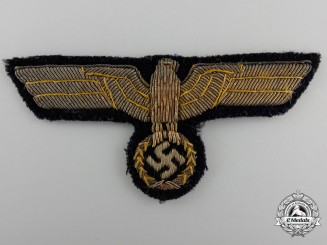 A Kriegsmarine Officer's Tunic Eagle in Bullion