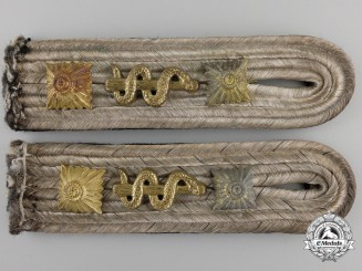 A Pair of Kriegsmarine Kapitänleutnant's Shoulder Boards