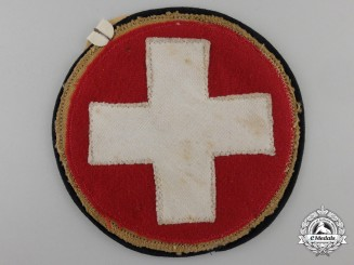 An SS-Sanitary Cloth Arm Badge with Tag