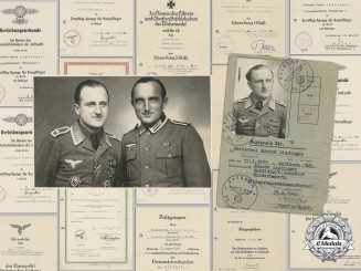 Germany, Luftwaffe. An Award Group to Honor Goblet & KC Recipient Eduard Lindinger