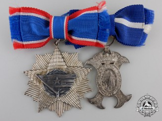 A Ladies Order of the Yugoslav Flag Award Pair