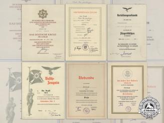 Award Documents to DKG RecipientUnteroffizier ErichRuoff