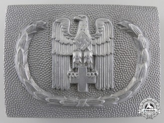 A German Red Cross Belt Buckle by Overhoff & Cie