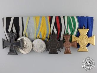 A First War German Imperial & Reich Police Six Piece Medal Bar