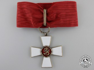 Finland, Republic. An Order of the Lion, Commander's Badge, c.1945