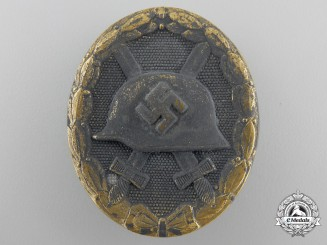 A Gold Grade Wound Badge by Fritz Zimmermann