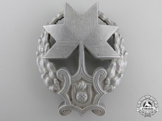 A Rare Croatian Iron Trefoil Recipient's Badge