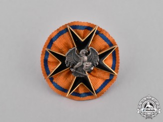 Estonia, Republic. A Miniature Order of the Eagle Cross on a Rosette
