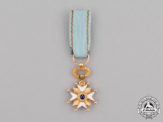 Latvia, Republic. A Miniature Order of the Three Stars in Gold