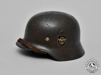 Germany. An M35 Schutzpolizei Double Decal Steel Helmet