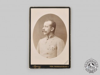 Austria-Hungary, Empire. A Photograph of Crown Prince Rudolf, c.1889